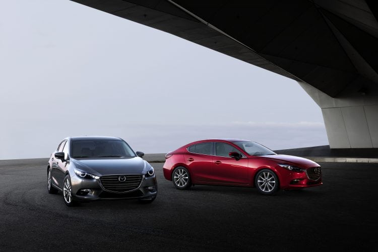 mazda 3 hatchback and sedan