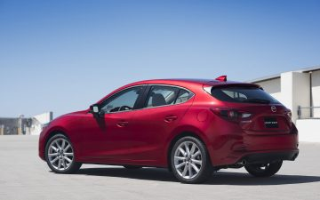 Mazda 3 soul red hatchback