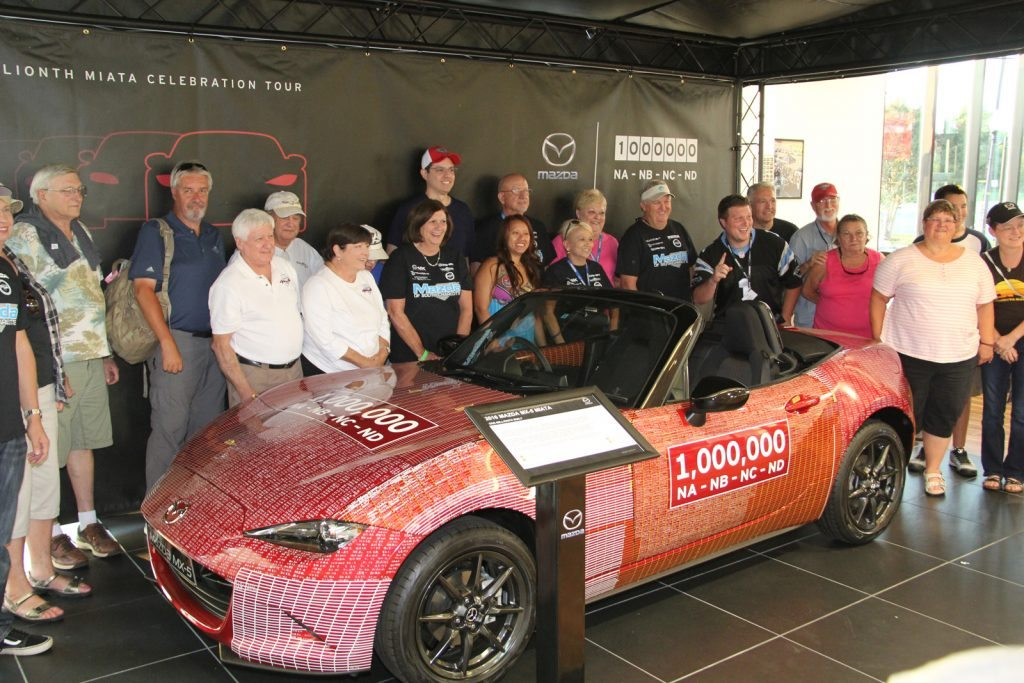 Millionth MX-5 Miata sports car roadster