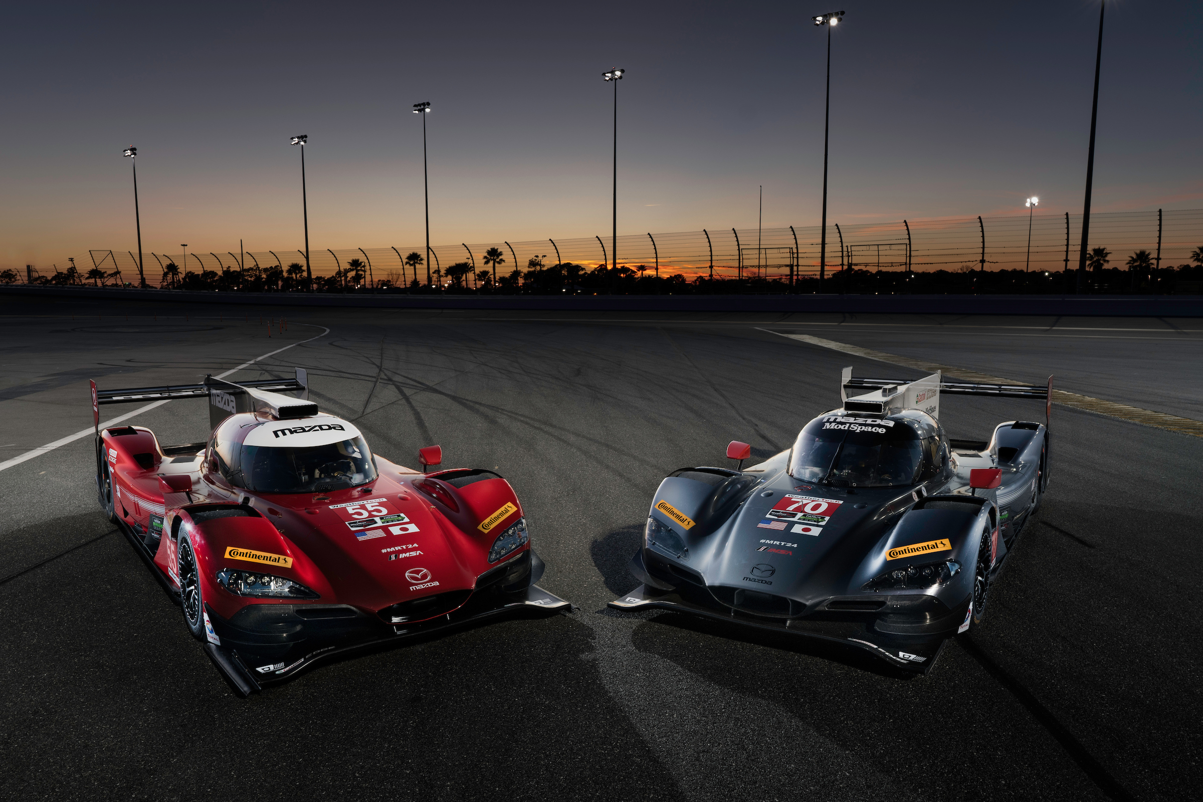 Mazda Prototype RT24-P race cars