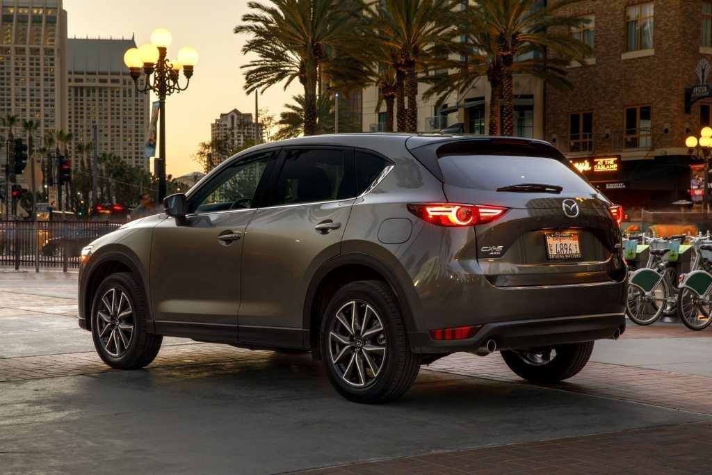 Mazda CX-5 crossover SUV rear shot